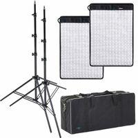Für weitere Info hier klicken. Artikel: Dörr LED Flex Panel 2er Kit FX-3040 BC mit 2xLS+Tasche