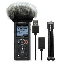 Für weitere Info hier klicken. Artikel: Olympus LS-P4 Podcaster Kit inkl. Mini Stativ, Mikro Windschutz and USB Kabel