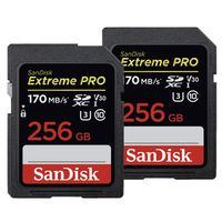 Für weitere Info hier klicken. Artikel: SanDisk 2x Extreme Pro, SDXC Video Speed, Class 10, UHS-I, U3, V30, 170MB/s 256 GB